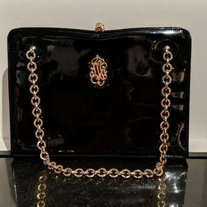 Vintage Waldybag Black Patent Leather Purse